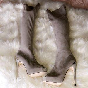 🆕BEBE Over The Knee Peep Toe Boots